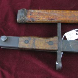 Japanese Bayonet with Square tip wood scabbard