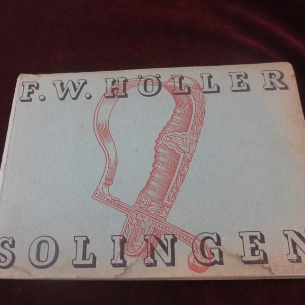 F.W. Holler sales catalog