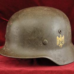 m35 single decal heer helmet with textured overpaint
