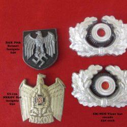 metal cap insignia