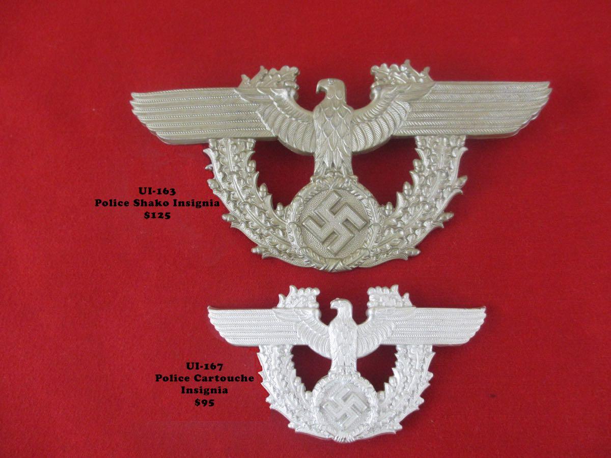 Police Shako, cartouche insignia