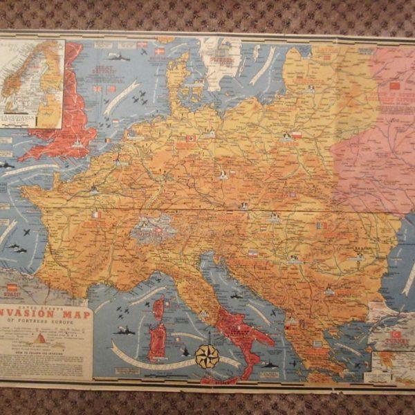 WW2 invasion map