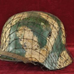 German Camouflage Helmet with net