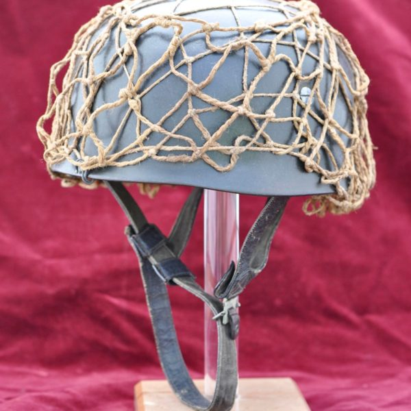 German Paratrooper Helmet with original net and hooks