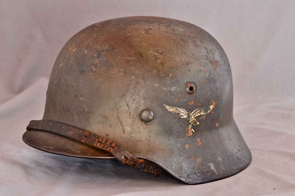 M35 single decal Camouflaged Luftwaffe helmet