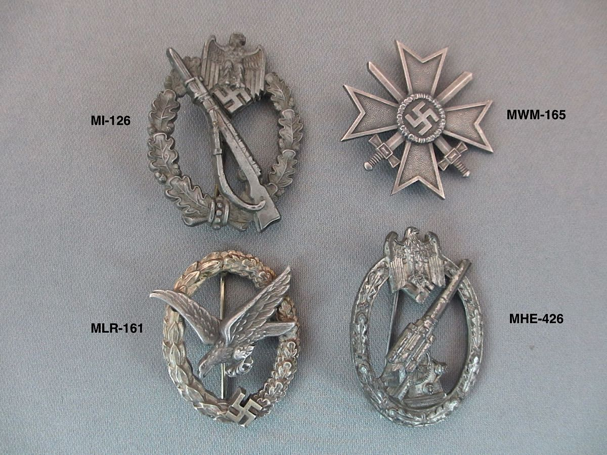 Heer and Luftwaffe Combat Medals