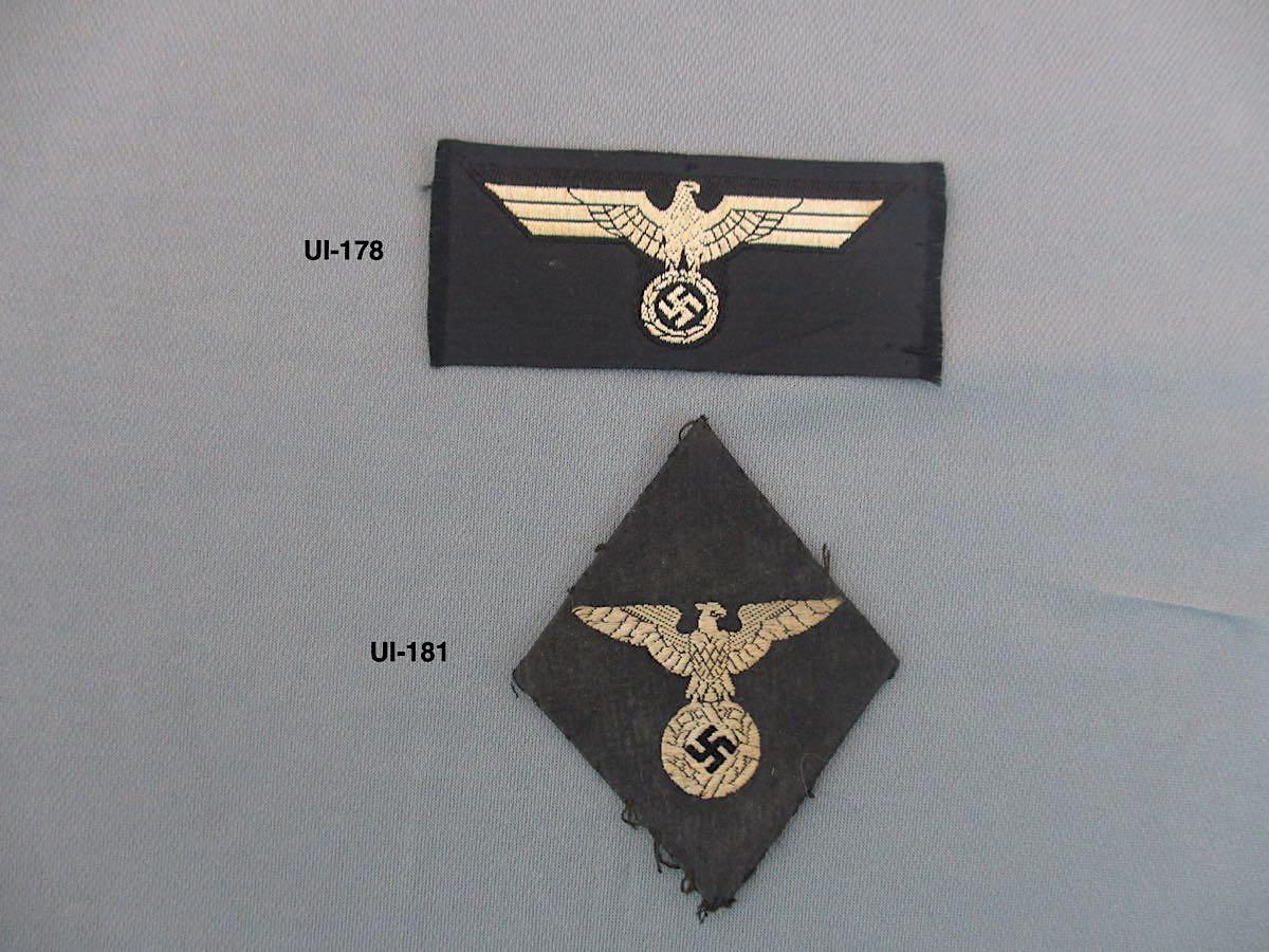Panzer Bevo and NSDAP Cloth Insignia