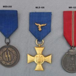 German Service medals for SS,Luftwaffe and Russian front