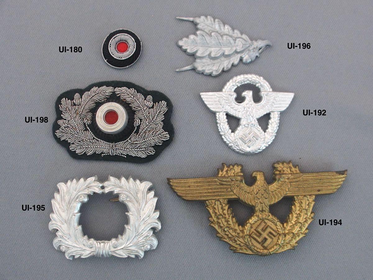 German Insigia, Visor insignia