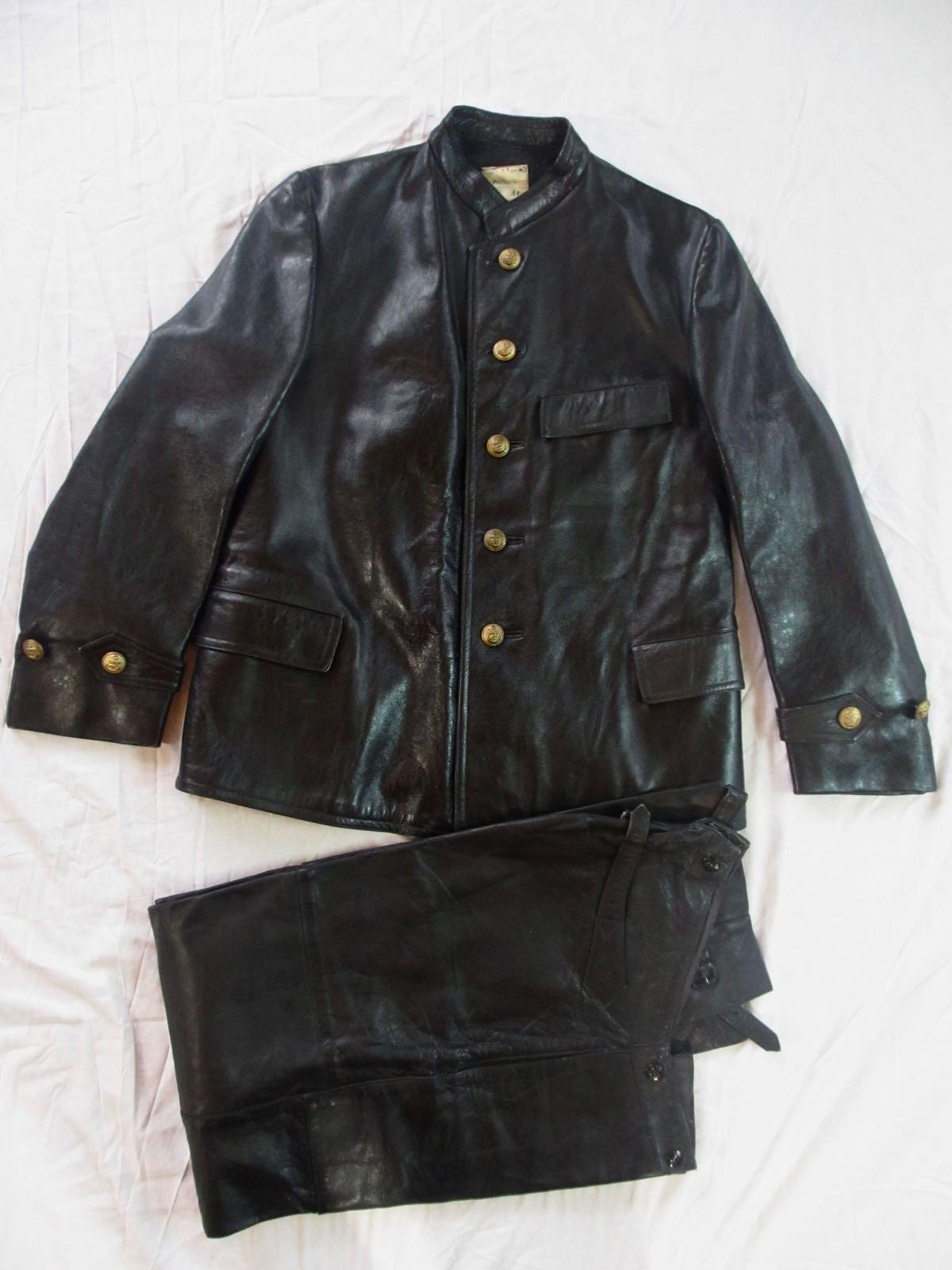 Kriegsmarine foul weather leather set.