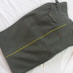 German Officers pants, yellow piped