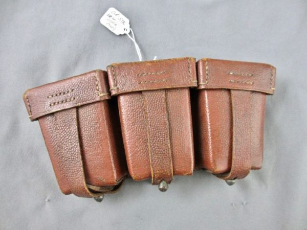 Luftwaffe brown leather K98 ammo pouch