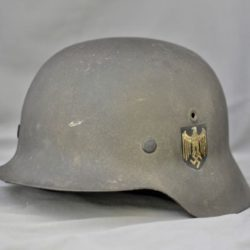 German M42 Single Decal Heer Combat Helmet