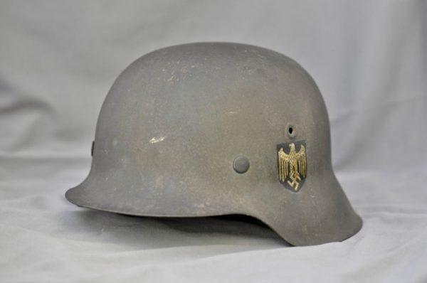 German M42 Single Decal Heer Combat Helmet
