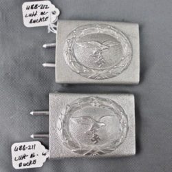 Luftwaffe aluminum pebble grain belt buckle