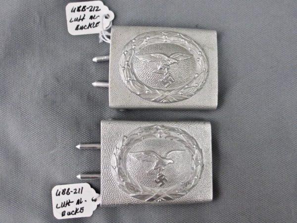Luftwaffe aluminum pebble grain belt buckle
