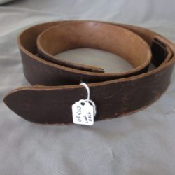 Luftwaffe brown leather belt