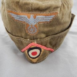 German Tropical EM/NCO Panzer Overseas cap