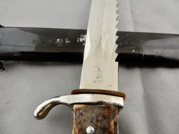 KS 98 Stag Grip Dress Bayonet with Sawback Blade