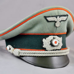 German Army Artillery Officers Visor by Erel IDed