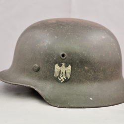 German M40 Single Decal Heer Combat Helmet