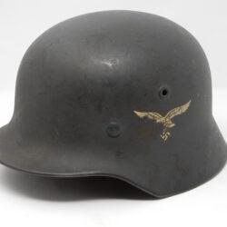 German M40 Single Decal Luftwaffe Combat Helmet